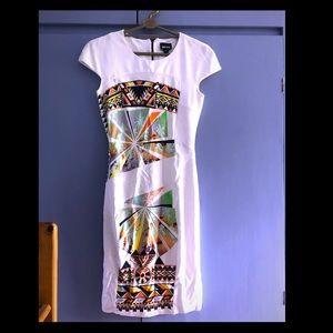 Just Cavalli Miami print cap sleeve dress sz M